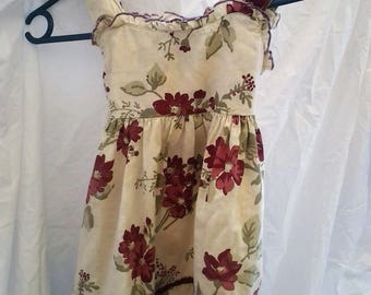 Vintage Floral Girls Dress - Size 4