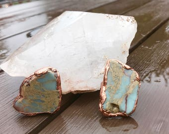 African Opal Ring     Aqua Terra Jasper Ring      Electroformed African Opal     Electroformed Aqua Terra Jasper