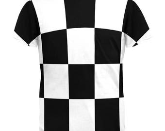 Finish Line Checkered Flag All Over Adult T-Shirt