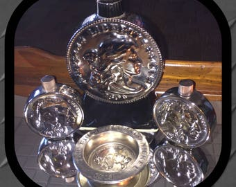 Lot of 4 decanters