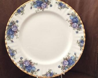 Royal Albert 2nd Quality Moonlight Rose Dinner Plate