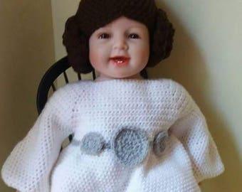 Crochet inspirec princess leia outfit