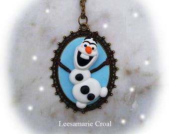 Olaf Necklace - Frozen Olaf Necklace - Frozen Olaf Necklace - Oalf's Frozen Adventure Necklace