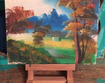 Vintage  Landscape Scene Painting ~  Original Art ~ Acrylic Painting