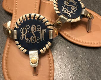 Monogram disc sandals, personalize  sandals, personalize disc sandals, personalized items, monogrammed shoes, disc sandals, gifts for her