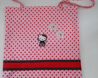 tote bag Hello Kitty, grocery bag, shopping, library bag, hand made sports