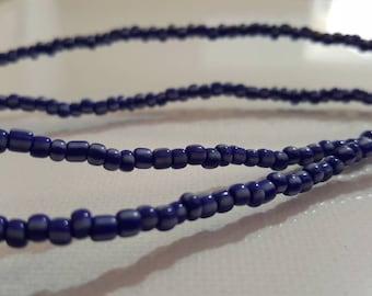 Blue waist beads