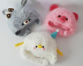 READY STOCK - Cute Animal Beanie Hat for Blythe, Icy, Pullip Doll