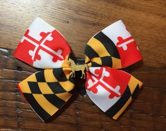 MD Flag Hair Bow
