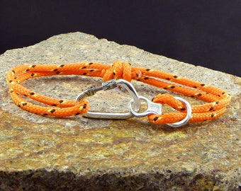 Carabiner + Fugure 8  Bracelet Mountaineering Silver 925 - Rock Climbing - Carabiner big and strong - I'm Climber