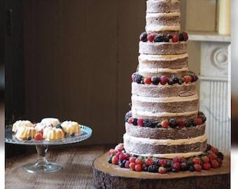 16-17 inch(5cm deep)Extra large Rustic Cake Stand, Wedding Cake Stand, Cupcake Stand, Wedding Centrepiece, Log Slice, Wood Slice, Wood Slab.