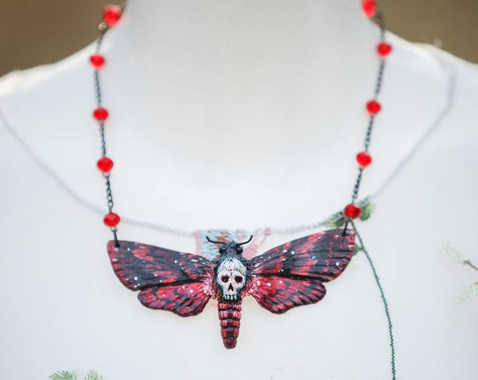 Red Skull Swarm Necklace
