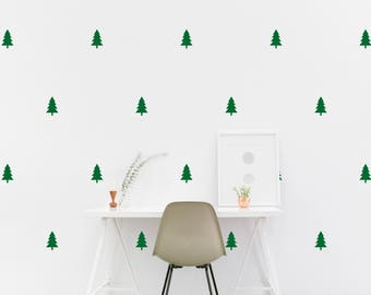Christmas Trees wall Decal Kids room Pine tree Wall Sticker, Nursery, Kids Bedroom Pattern Wallpaper Vinyl Wall Decals Stickers Home Decor