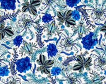 "Studio KM  Free Spirit  ""Persia""  Waldorf--Lapis Cotton Fabric"