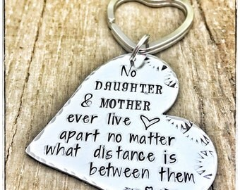 Long Distance Keychain Mother, Keychain Mother Daughter, Long Distant Gift  Mom, Mother's Day Gift