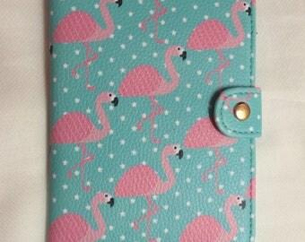 Tropical Flamingo Passport Holder | Passport Wallet Pink and Blue