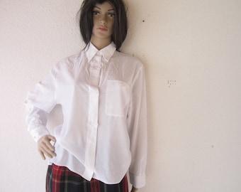 Vintage 80s blouse with lace lace blouse blouse S / m