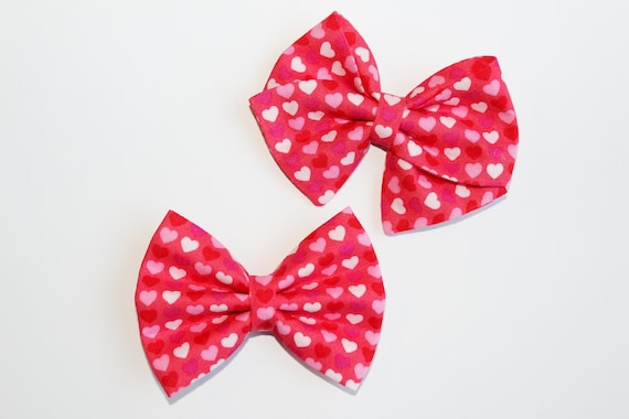 Multi Pink Heart Bow