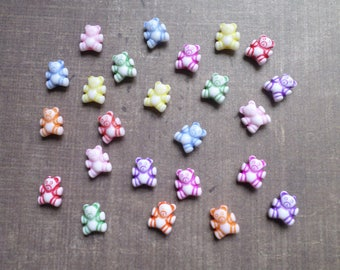 130 animals bear mix colors beads and white