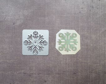 Die cut Stencil Sizzix festive Christmas snowflake