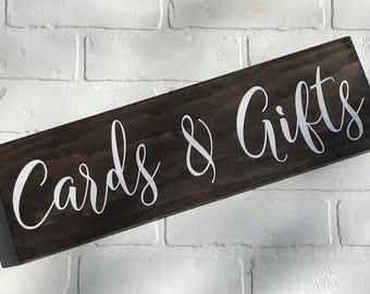 Cards and Gifts, Cards and Gifts Sign, Cards and Gifts Wedding Sign, Wedding Sign, Wedding Decor, Wood Wedding Sign, Wedding Wood Sign