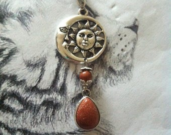 """""""The meet with Sun and Moon"""" pendant"""