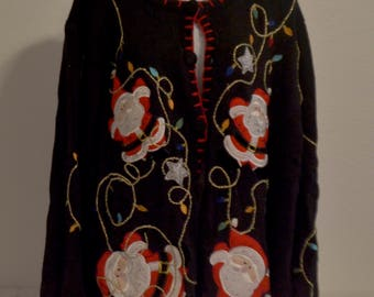 Vintage Ugly Christmas Sweater Size 2X