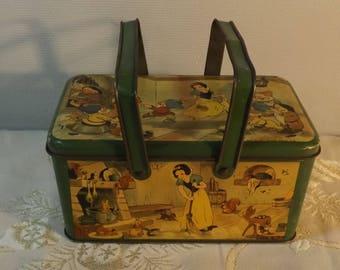 Lunch box Disney. Boite repas tôle. Old tin box. SCHUYBROEK HOBOKEN. Anvers
