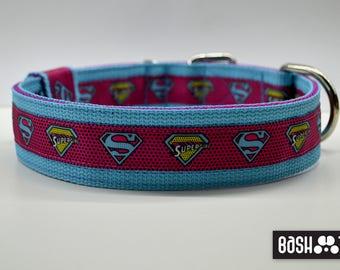 Strong Dog Collar / Angry Birds/ SuperGirl/ Bats Halloween