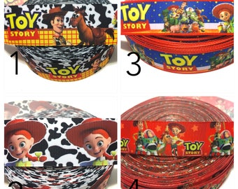 Toy Story Ribbon, Jessie Ribbon, Buzz Lightyear Ribbon, woody Ribbon by the Yard, Toy story Grosgrain Ribbon