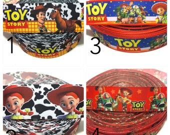 Toy Story Ribbon, Jessie Ribbon, Buzz Lightyear Ribbon, woody Ribbon by the Yard, Toy story Grosgrain Ribbon
