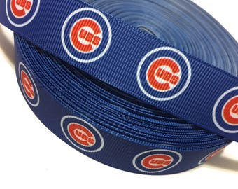 Cubs Ribbon, chicago cubs ribbon, chicago cubs grosgrain ribbon