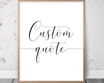 Custom Quote Prints New Custom Quote Print  Etsy