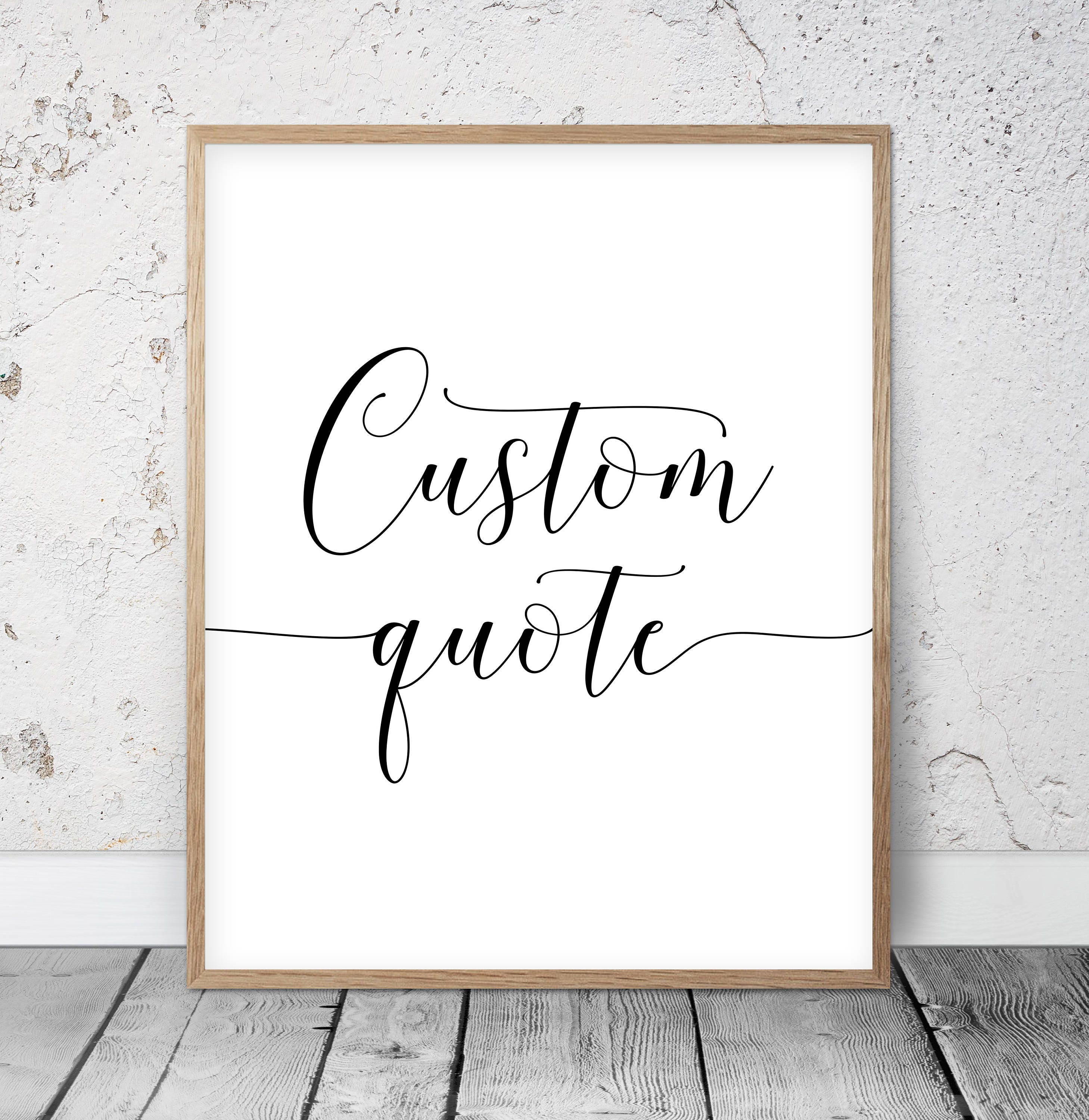 Custom Quote Prints Custom Quote Print Personalized Prints Custom Handwriting