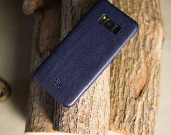 alto Samsung Galaxy S8+ Original Handmade Premium Italian Leather Case - Navy