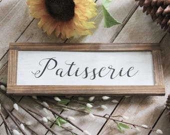 Rustic Patisserie Sign Magnolia Farms Market Kitchen Sign Farmhouse Decor Fixer Upper Sign French Country Cottage Chic Joanna Gaines Sign