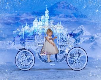 Cinderella or Princess Carriage Overlay