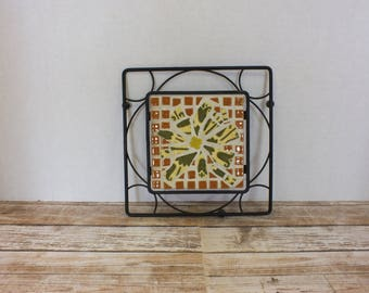Mosaic and Iron Trivet