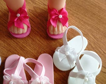 """14.5"""" doll sandals"""