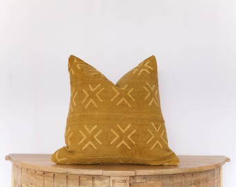18X18 African Mudcloth Pillow Cover