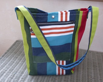 oven bag in canvas pouch and snap closure