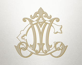 Fancy Monogram Design - CM MC - Fancy Monogram - Digital