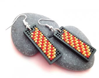 Challenge may earrings embroidery childhood memory