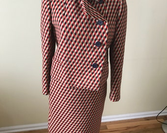 1960s wool skirt suit