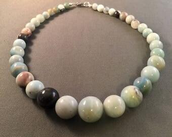 Graduated Amazonite Beaded Necklace