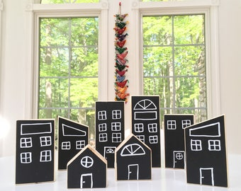 Wooden Chalkboard Blocks, Wooden Montessori Blocks, Waldorf Blocks, Building Blocks, Natural Blocks, Baby Shower, Natural Nursery, Birthday