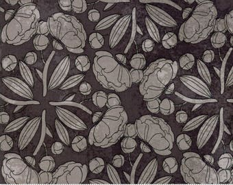 Charcoal Gray Pinwheels from the Blushing Peonies collection by Robin Pickens for Moda Fabrics, Choose the Cut, Peony