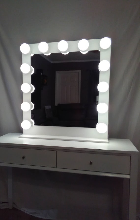 Adding Vanity Lights To Mirror : Vanity mirror with lights Dimmer and 2plug outlet