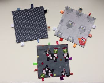 blankies with dots, owls or cows