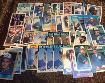 50 Toronto Blue Jays Baseball Cards 1980's